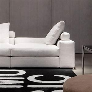 Minotti jagger low back sectional sofa modern for Sectional sofa low back