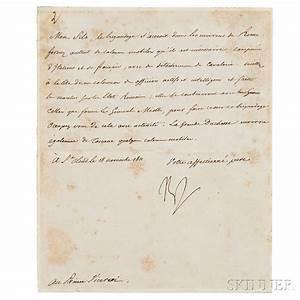 napoleon bonaparte i 1769 1821 letter signed 18 With napoleon letters for sale