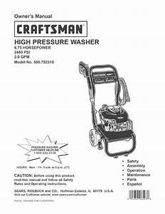 Craftsman 580 752310 User Manual