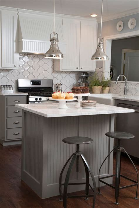 hgtv kitchen island ideas as seen on hgtv 39 s quot fixer quot the gray beadboard