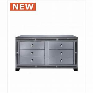 smoked millanno mirror 6 drawer cabinet With kitchen cabinets lowes with smoked glass candle holders