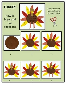 thanksgiving turkey drawing  writing packet