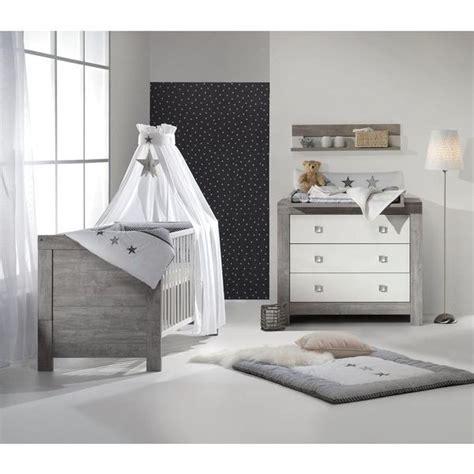 ensemble chambre bébé ensemble lit et commode nordic driftwood schardt