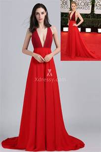 Dress Red Carpet by Amy Adams Plunging Red Formal A Line Prom Dress Golden
