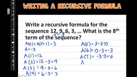 recursive formula arithmetic sequences