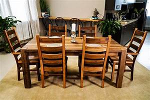 timber ridge reclaimed barn wood dining table With barnwood kitchen table and chairs