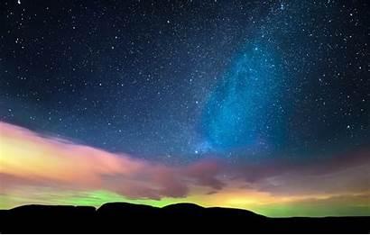 Night Landscape Stars Desktop Wallpapers Background Nature
