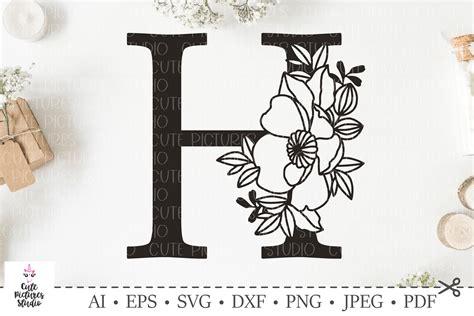 botanical alphabet svg floral letter  svg bundle svg dxf