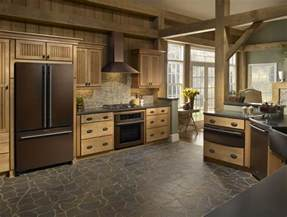 Colorful Kitchen Canisters Rubbed Bronze Appliances Add Warmth To Colonial Kitchen
