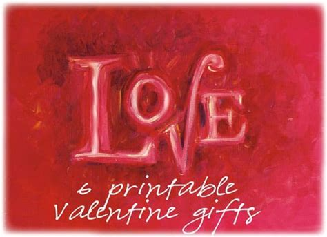 homemade valentineas day   printable valentine gifts