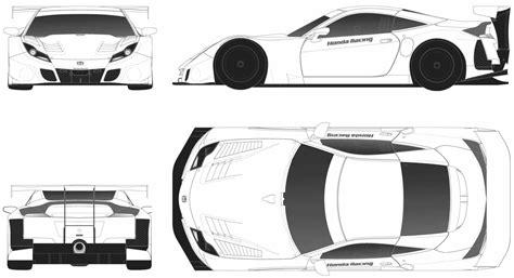 Honda HSV-010 GT Blueprint - Download free blueprint for ...