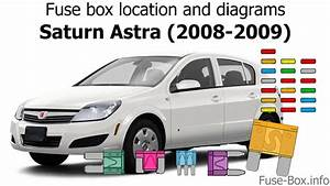 Fuse Box Location And Diagrams  Saturn Astra  2008