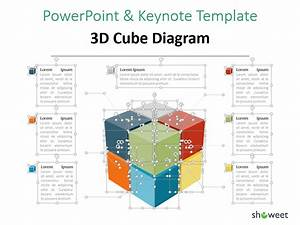 3d Cube Diagram For Powerpoint And Keynote  With Images