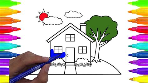 Coloring Xds by How To Draw A Doll S House Coloring Doll S House