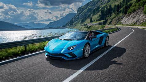 lamborghini aventador s roadster blue lamborghini aventador s roadster