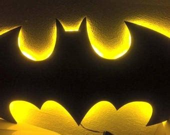 batman wall light etsy