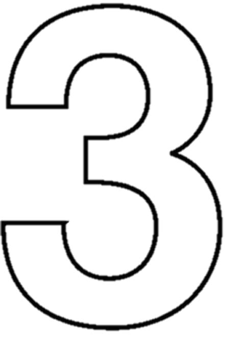 Coloring Number 3 by Three Clipart Black And White Clipground