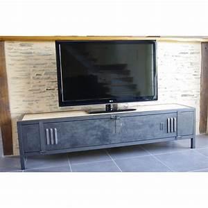Meuble Tv Casier Industriel : meuble tv industriel en acier bois et porte de vestiaire interior ideas metal lockers wood ~ Nature-et-papiers.com Idées de Décoration