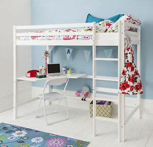 Ebay Bunk Bed With Desk by Cabin Bed High Sleeper With Desk In White Bunk Bed High