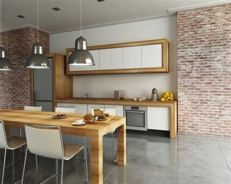briques cuisine la brique dans votre salle à manger 20 modèles pour vous