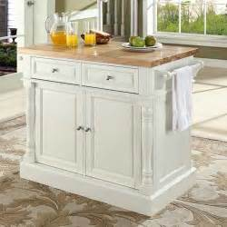 kitchen island butcher block tops crosley oxford kitchen island with butcher block top reviews wayfair