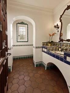 Fliesen Spanischer Stil : die besten 25 spanisches stil badezimmer ideen auf pinterest spanisches badezimmer ~ Sanjose-hotels-ca.com Haus und Dekorationen