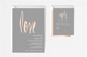 rose gold wedding invitation rose gold foil modern by With rose gold and gray wedding invitations