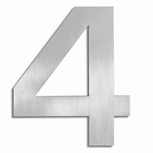 Numéro Maison Design : signo chiffre 4 blomus numro de maison inox ~ Premium-room.com Idées de Décoration