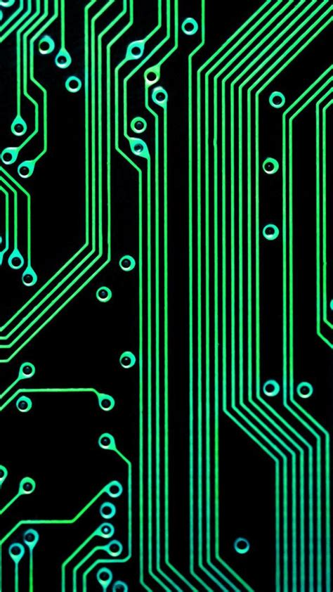 green and black iphone wallpaper electronic circuit green black android wallpaper free