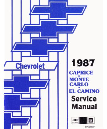 auto manual repair 1998 chevrolet monte carlo instrument cluster 1987 chevrolet caprice el camino monte carlo body chassis electrical service manual