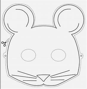 free coloring pages of rat face mask With printable mouse mask template