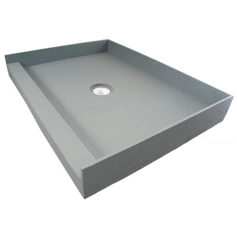 tile ready shower pan fin pan preformed 36 in x 36 in single threshold shower
