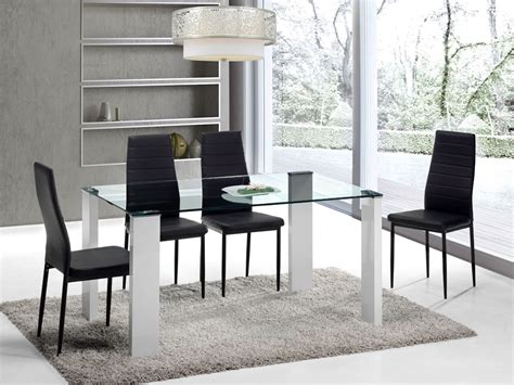 mesas y sillas comedor juego de comedor con mesa de cristal y cuatro sillas de