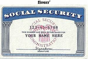social security card template peerpex With make a social security card template