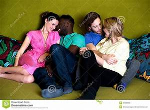 Group Of Four Friends Having Fun Stock Photography - Image ...