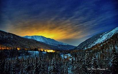 Alaska Scenery Winter Wallpapers Nights Wallpapersafari