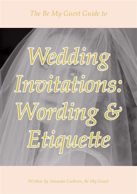 Wedding Invitation Wording and Etiquette Guide