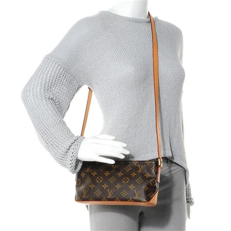 louis vuitton trotteur monogram small brown cross body bag