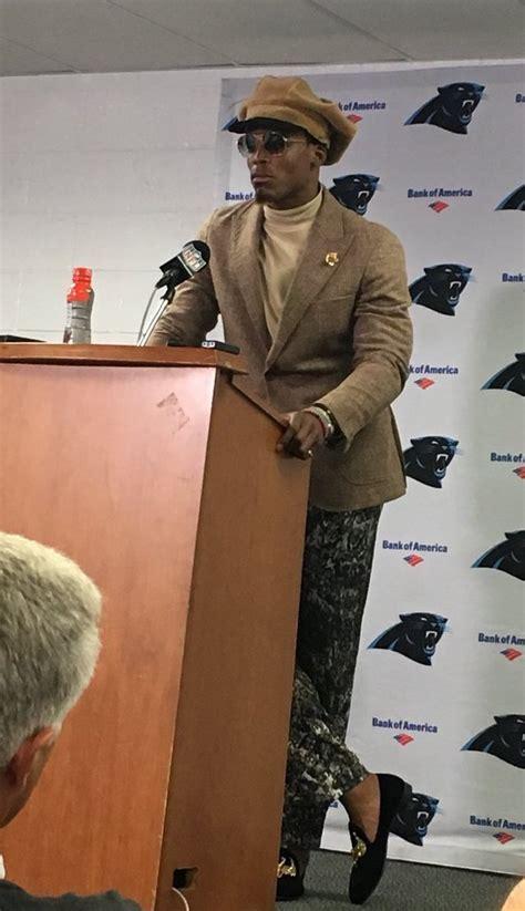 cam newton wears kitten heels bad outfit  loss