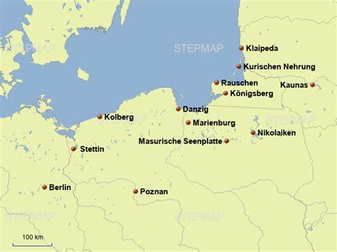 stepmap polnische ostsee landkarte fuer polen