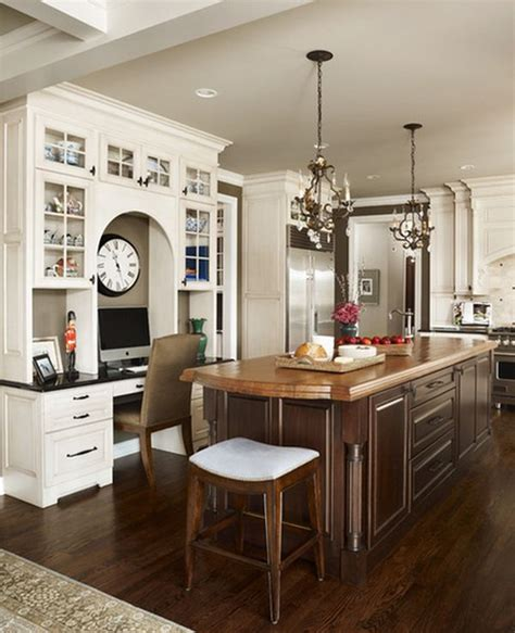 Cherry Cabinets Kitchen by 20 Clever Ideas To Design A Functional Office In Your Kitchen