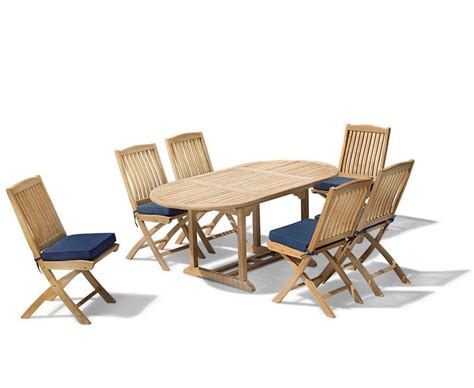 Garden Patio Table And Chairs by Brompton Patio Extending Garden Table And Folding Chairs