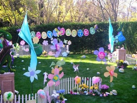 Easter Egg Garden Decoration by Garden Decorate At Easter And Joyful Festive Mood Spread