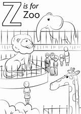 Coloring Zoo Pages Printable sketch template