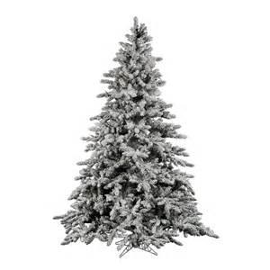 14 foot flocked utica fir tree unlit a895195 vickerman