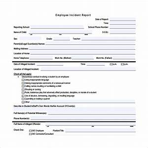16 employee incident report templates sample templates With hr incident report template