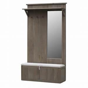 Porte Manteau Chaussure : meuble porte manteau coffre et miroir ch ne massif aline ~ Preciouscoupons.com Idées de Décoration