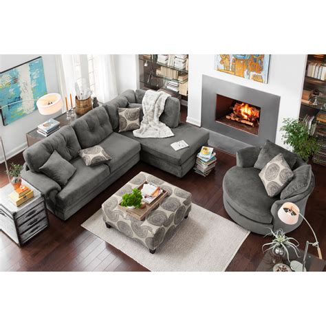 two sofa living room cordelle 2 piece right facing chaise sectional gray