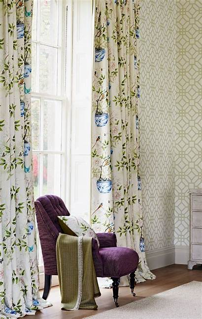 Garden Zoffany Chinoiserie Romey Fabric Curtain Uploaded