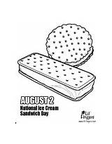 Sandwich Ice Cream Coloring Template Pages sketch template